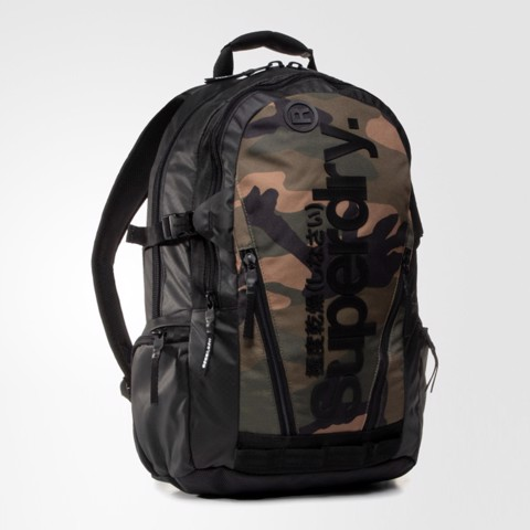 Green Camo Tarp Backpack