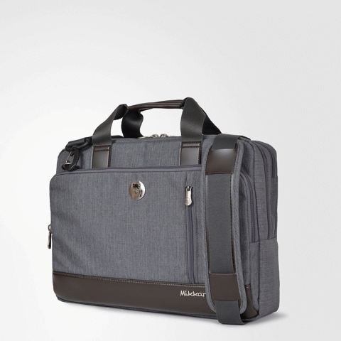 The Ralph Briefcase Dark Mouse Grey