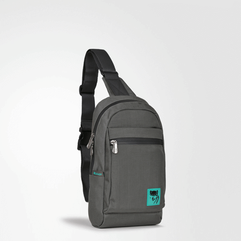 The Clarence Sling Backpack Dark Mouse Grey
