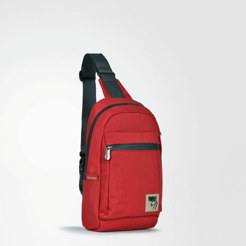 The Clarence Sling Backpack Red