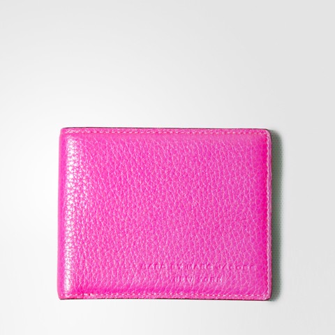 Calfskin Leather Hot Pink Wallet For Man