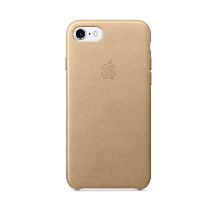 Ốp Lưng Iphone 7 Plus Leather Case - Màu Vàng Kem