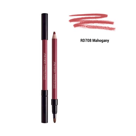 chi ke vien moi shiseido smoothing lip pencil rd708 mahogany 1,2g