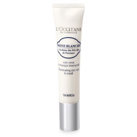 mat na duong sang da vung mat loccitane reine blanche illuminating eye care mask 15ml 2