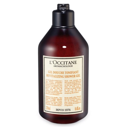 gel tam l occitane aromachologie revitalizing shower gel 250ml