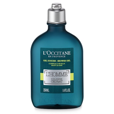 gel tam l occitane l homme cologne cedrat shower gel body hair 250ml