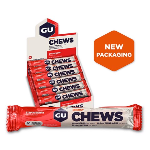 GU Energy Chews Strawberry Box 24