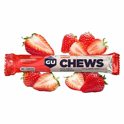 GU Energy Chews Strawberry