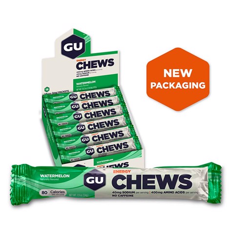 GU Energy Chews Water Melon Box 24