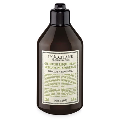 loccitane aromachologie rebalancing exfoliating shower gel 250ml