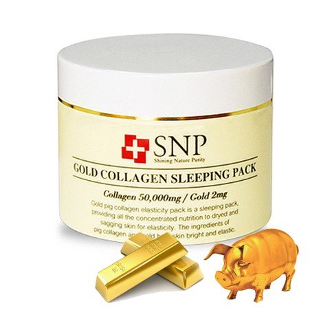 mat na ngu tinh chat vang 24k snp gold collagen sleeping pack
