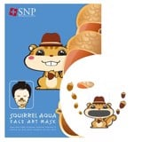 mat na selfie soc nau duong am snp squirrel aqua face art mask 25ml