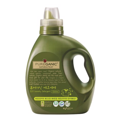 nuoc giat huu co cao cap pureganic eco laundry detergent bottle 1300ml