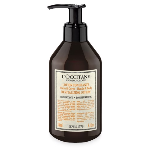 sua duong the loccitane aroma moisturizing revitalizing lotion hands