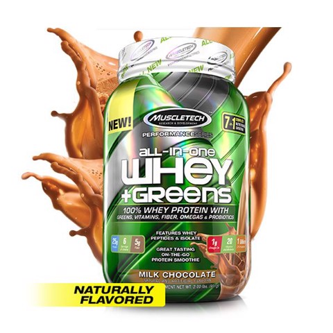 All-In-One 100% Whey Greens 908g Milk Chocolate