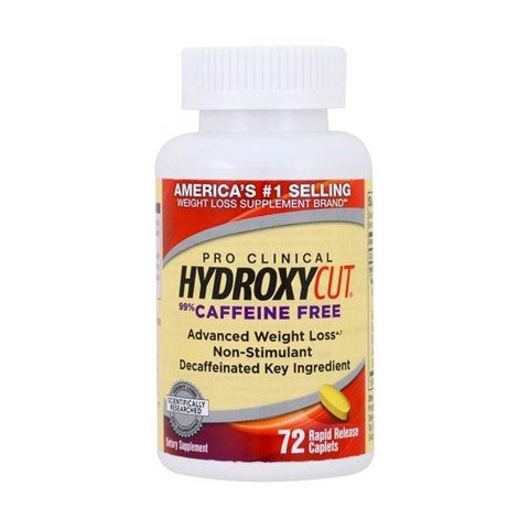 hydroxycut pro clinical 99 caffeine free 72 vien