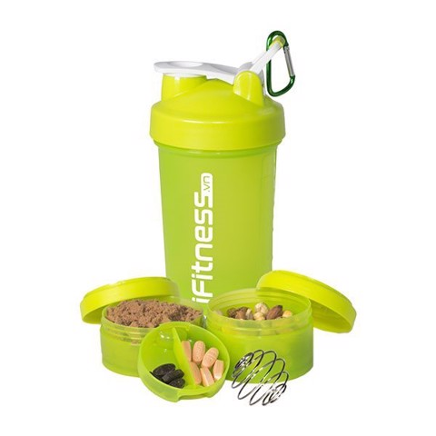 binh lac iFitness Pro Shaker 4-in-1 green