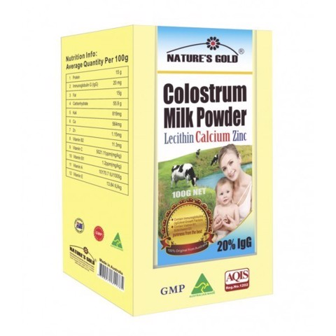 sua non bot natures gold colostrum milk powder 100g