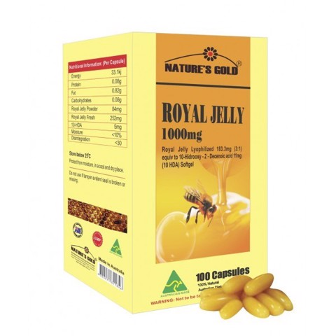 vien uong sua ong chua natures gold royal jelly 1000mg 365 vien