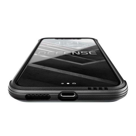 Ốp Lưng Iphone X X-Doria Defense Lux Black Leather Chính Hãng USA