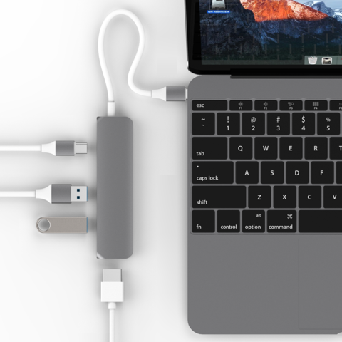 HyperDrive USA USB Type-C Hub 4in1: HDMI + 2 USB 3.0 + 1 USB-C (BH 12TH)
