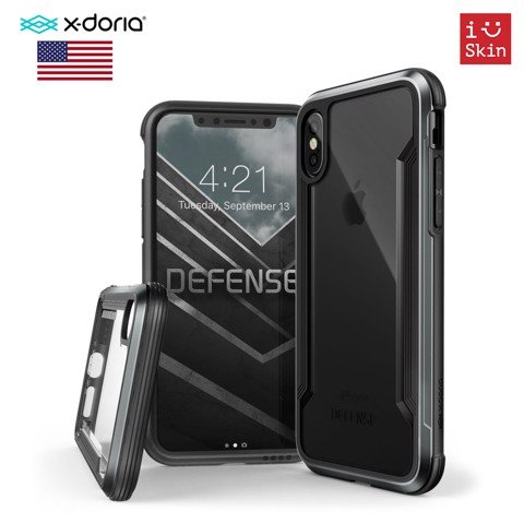Ốp Lưng Iphone X X-Doria Defense Shield Black Chính Hãng USA