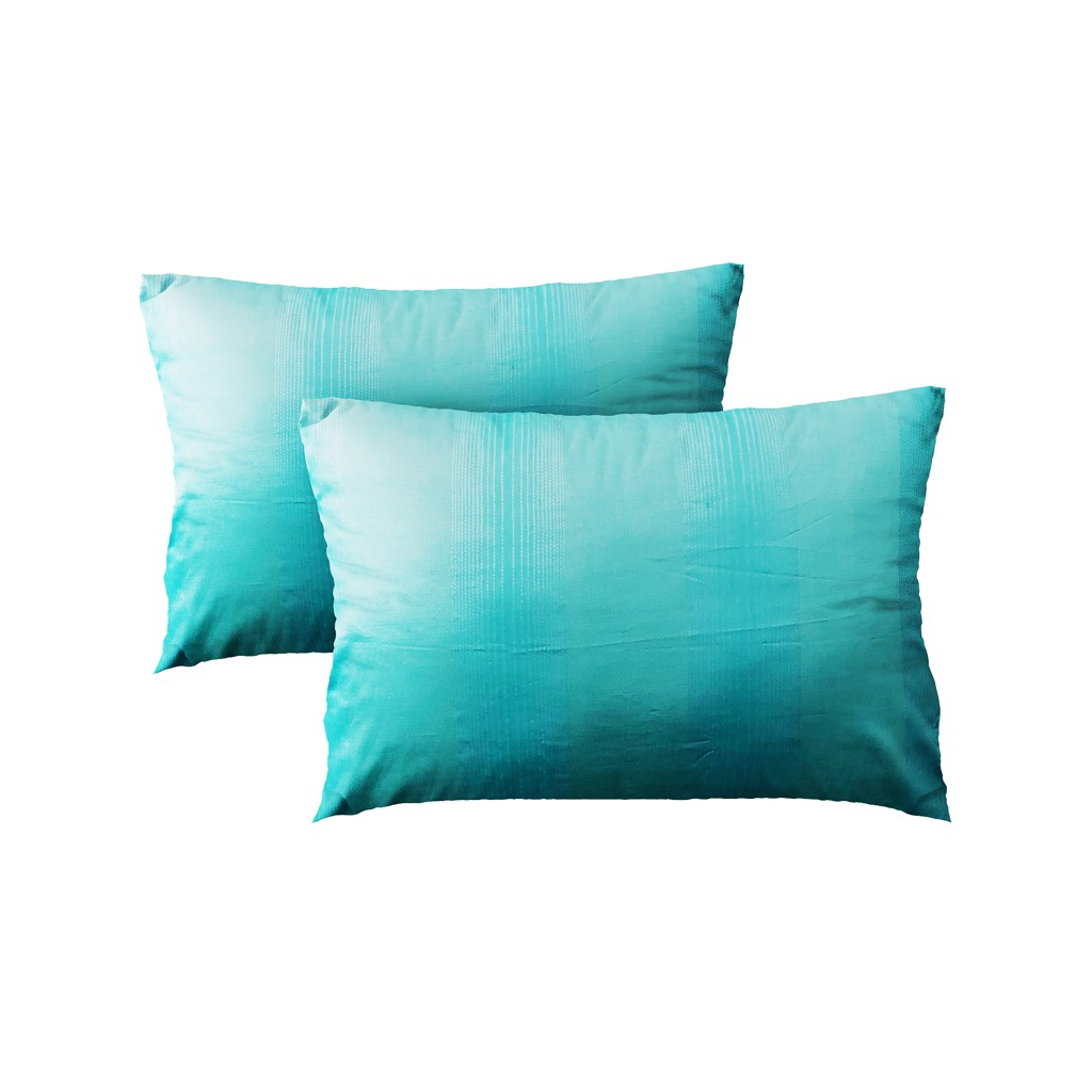 Pillow case 005 Poseidon green stripes