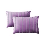 Pillow case 035 Light white stripes on purple (2pcs)
