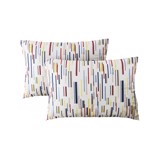 Pillow case 045 Colorful stripes (2pcs)
