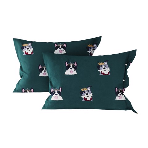 Pillow case 184 King & Queen of dog