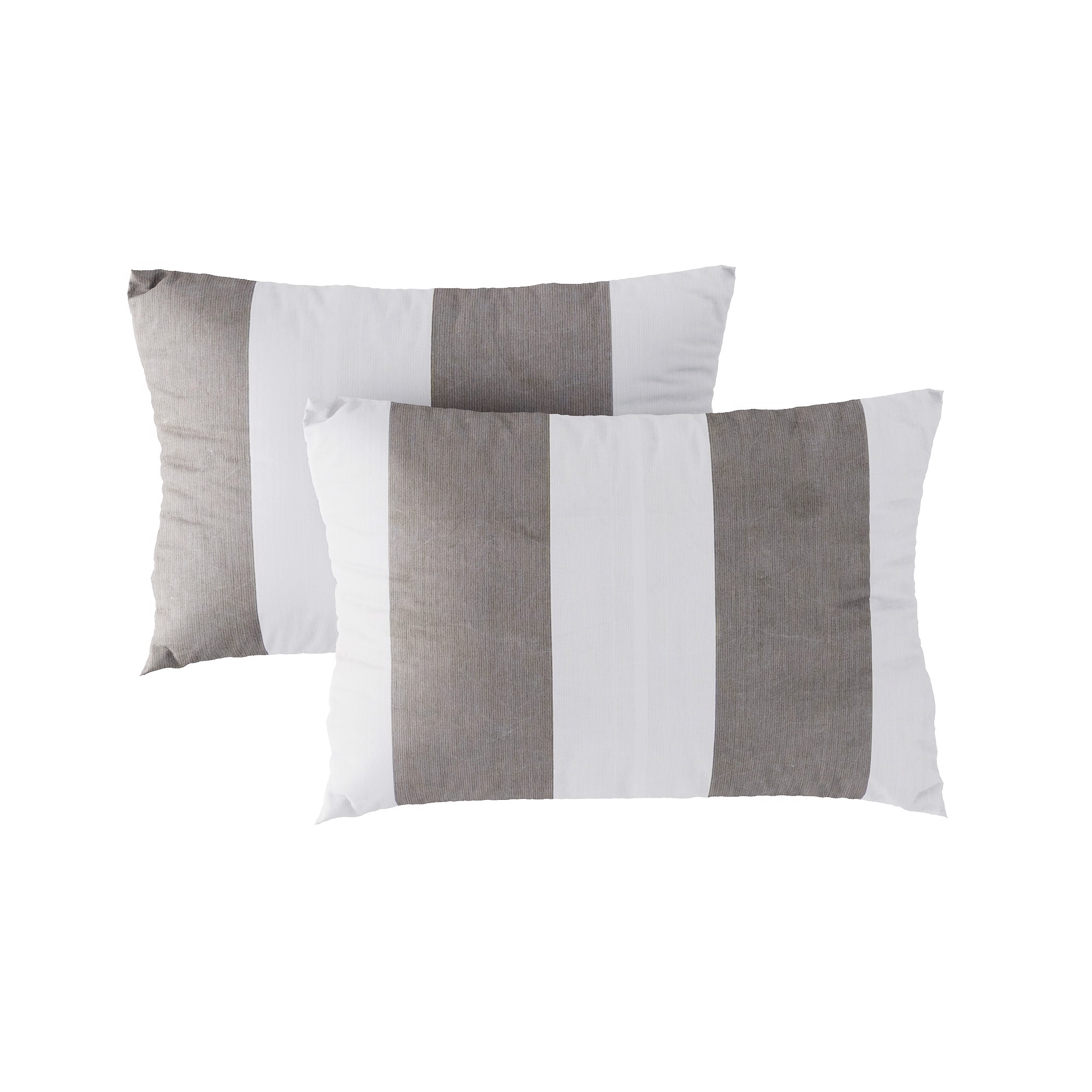 Pillow case 188 Big grey brown lines
