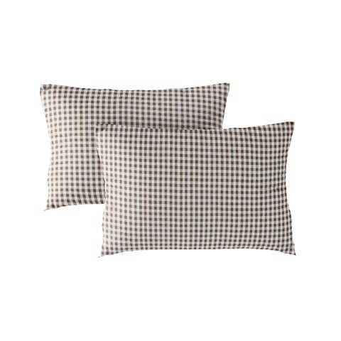 Pillow case 187 Small brown checkerboard
