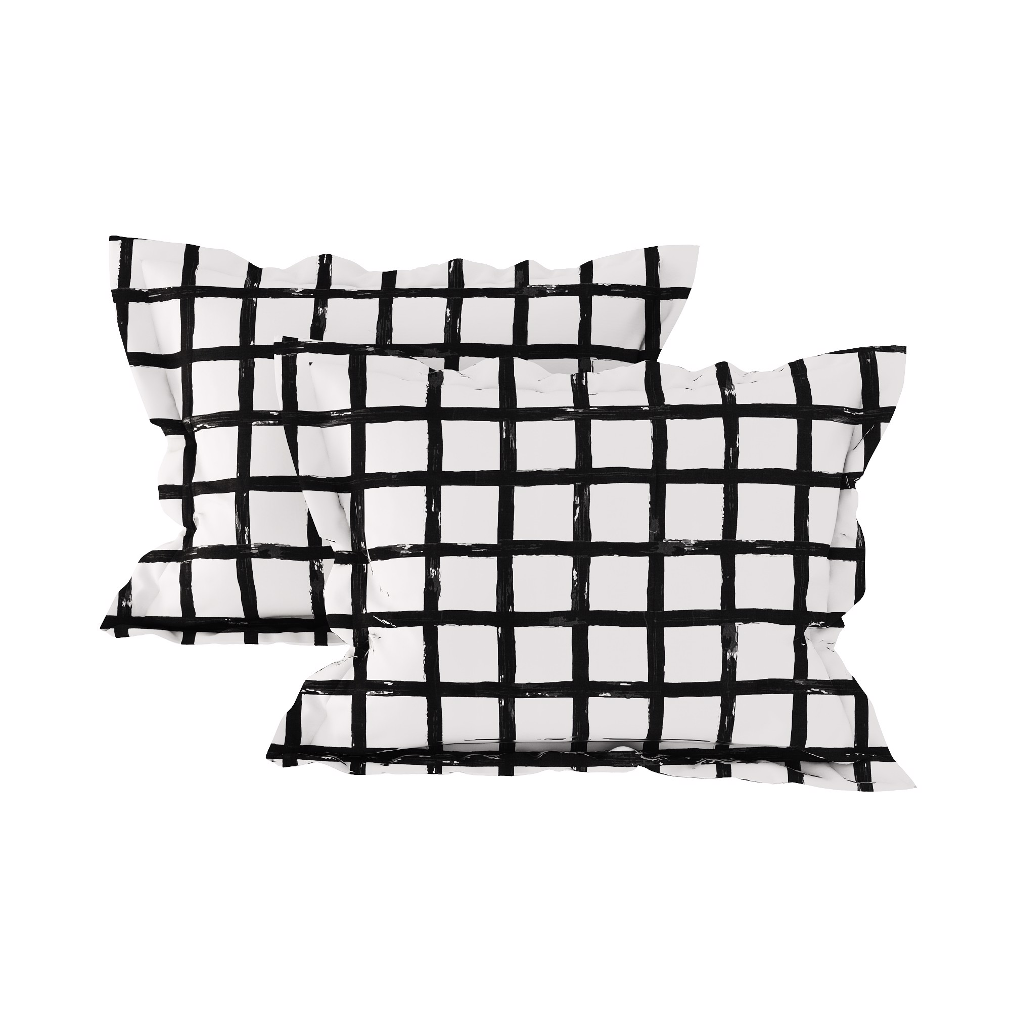 Pillow case 172 Black grid on white