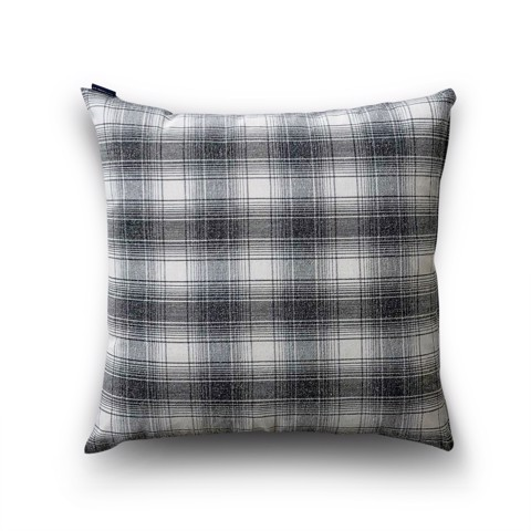 Cushion cover 31 Grey grid on Canvas