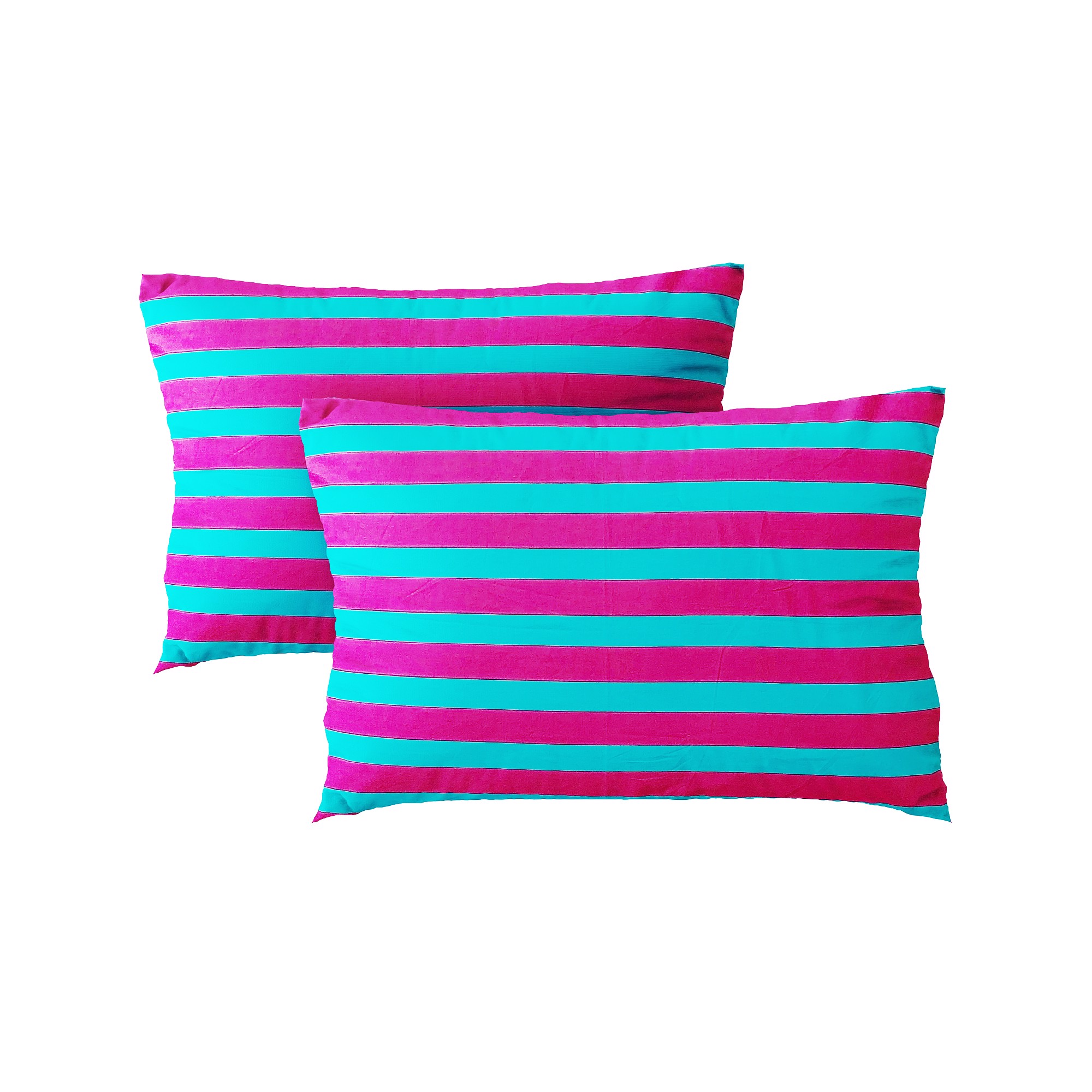 Pillow case 351 Pink blue striped