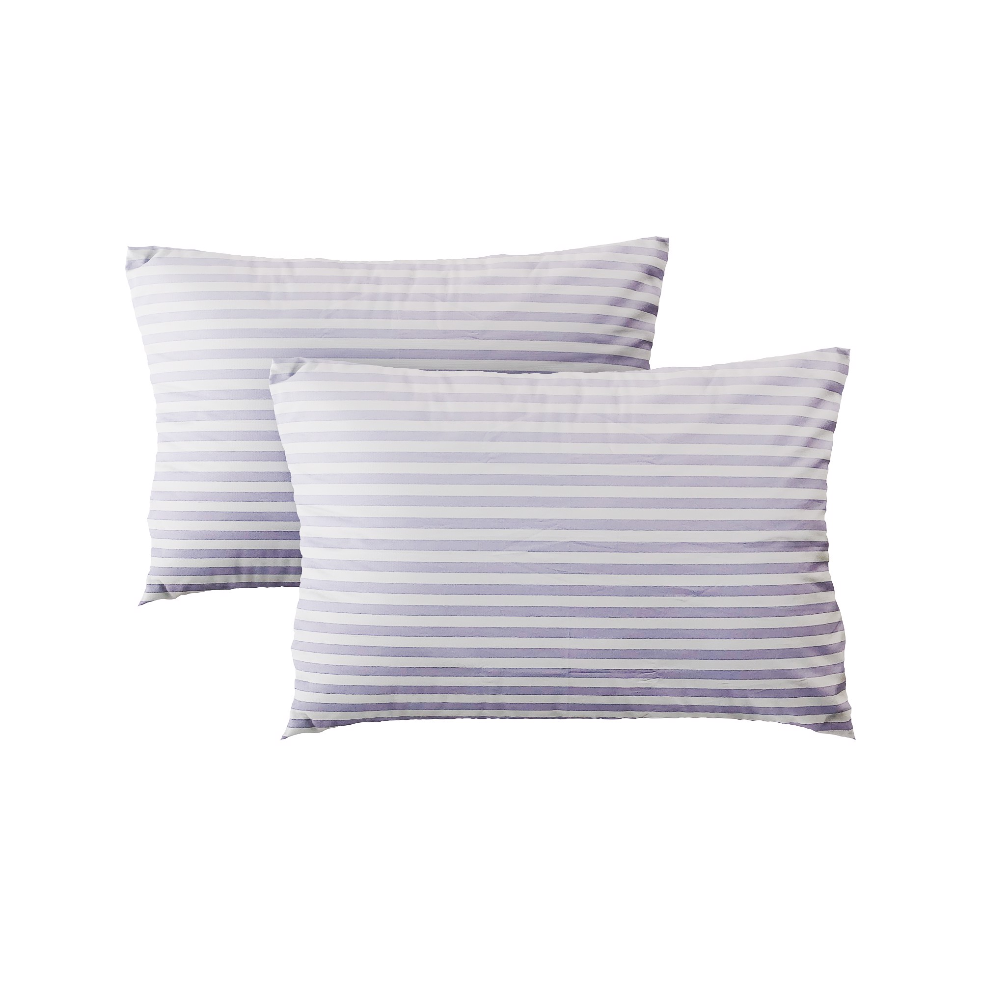 Pillow case 395 Purple white stripes (2pcs)
