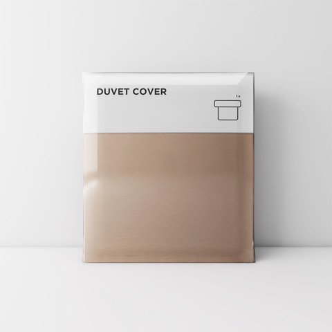 Premium duvet cover 03 Light brown