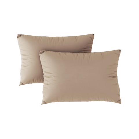 Premium pillow case 03 Light brown (2pcs)