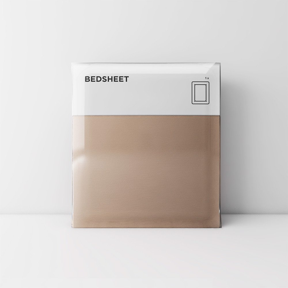 Premium bedsheet 03 Light brown