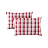 Pillow case 426 Red white grid (2pcs)