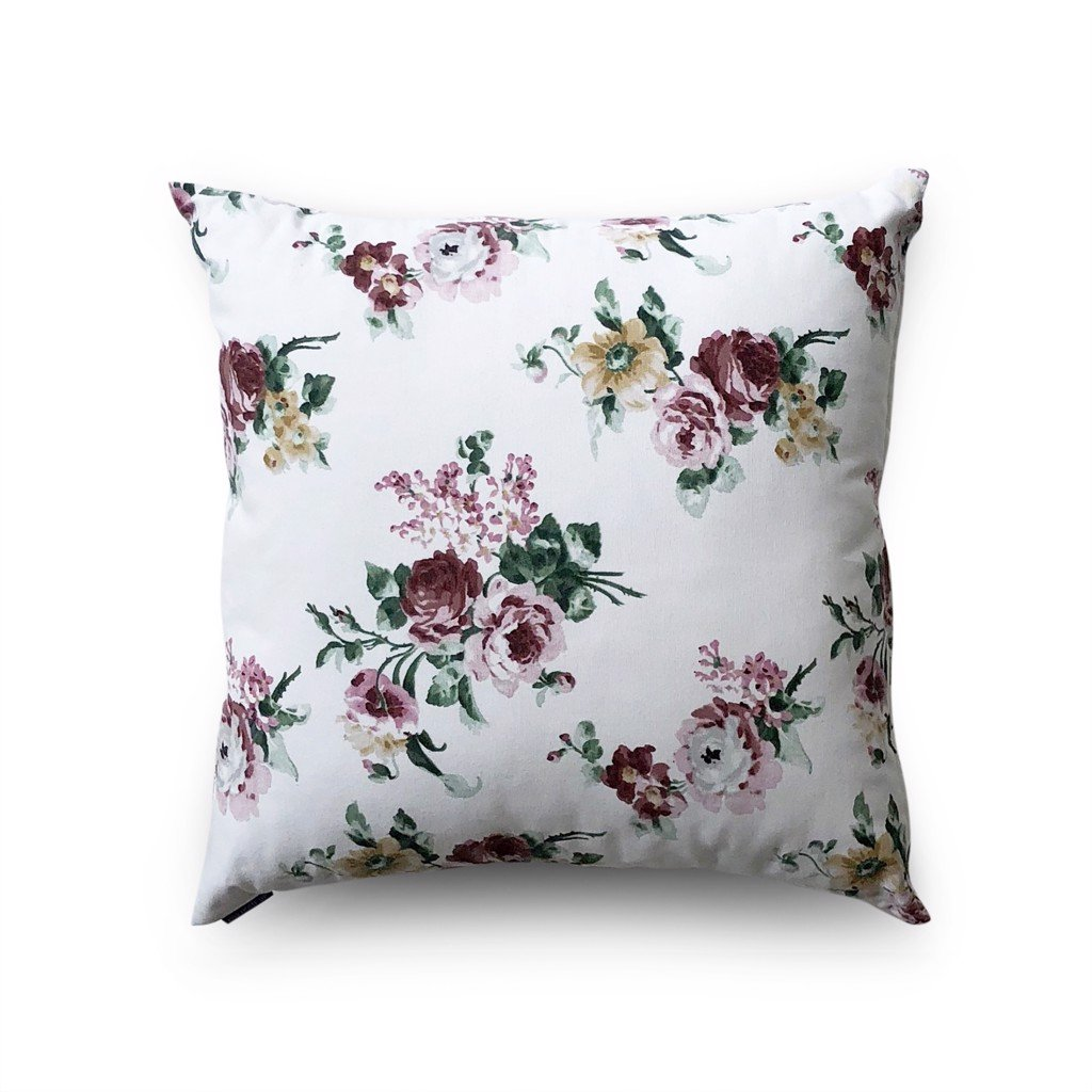 Cushion cover 55 Roses on white