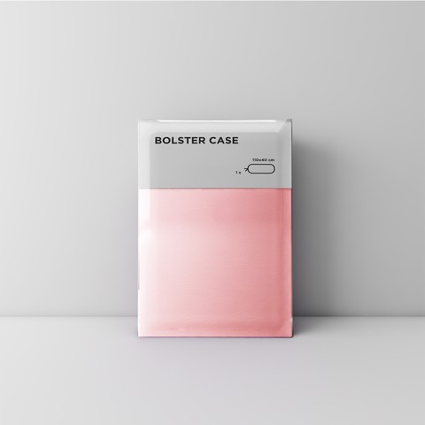 Premium bolster case 05 Light pink