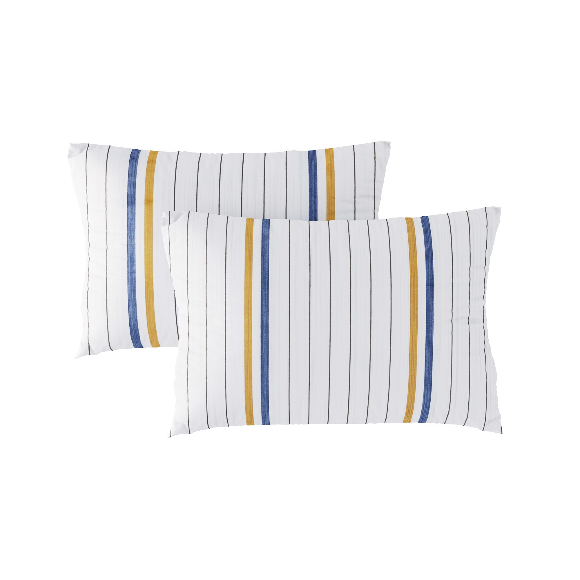 Pillow case 159 Simple yellow and navy stripe