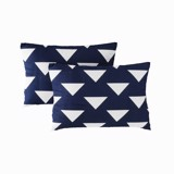 Pillow case 168 White triangle on navy
