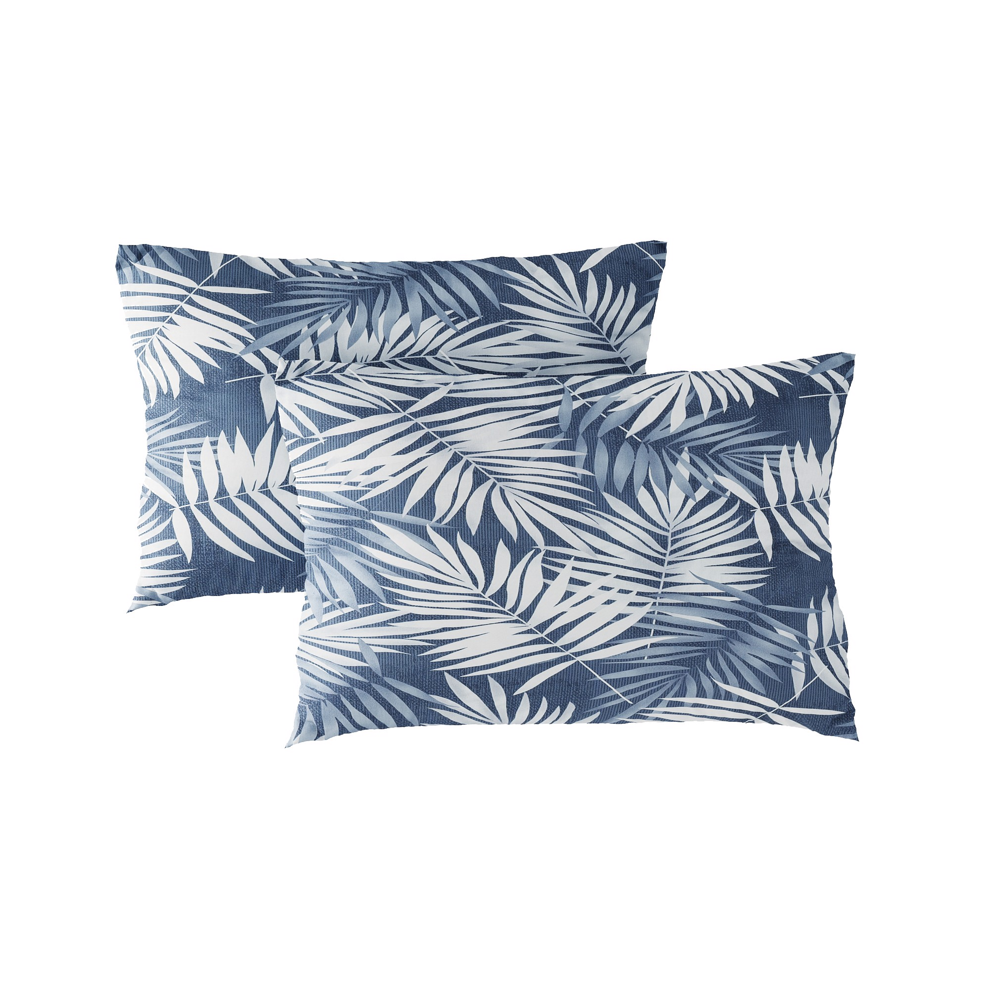 Pillow case 180 White palm leaves
