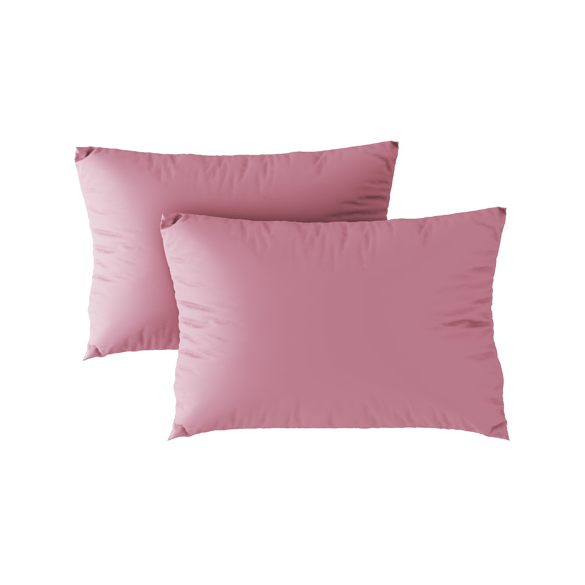 Standard pillow case 09 Salmon pink (2pcs)