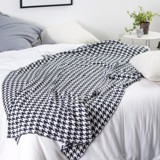 Mền sofa houndstooth - Black
