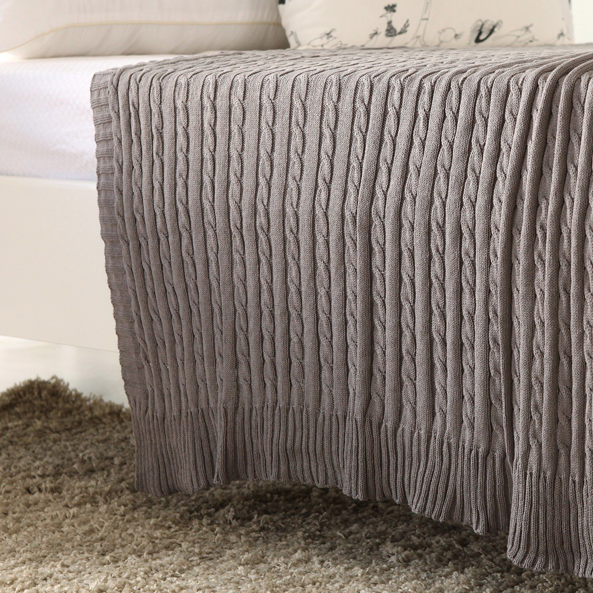 Mền sofa Warmy grey