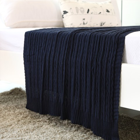Mền sofa Warmy navy blue