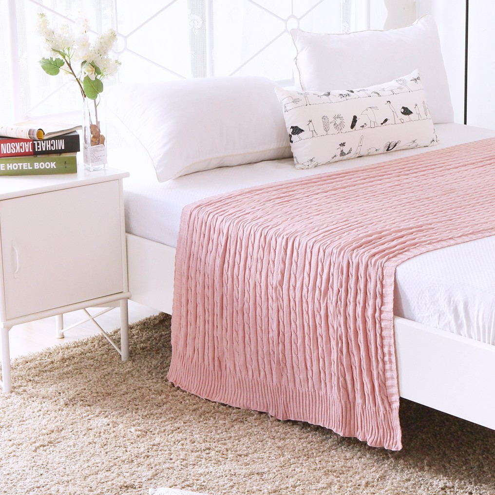 Mền sofa Warmy pink